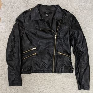 Forever 21 Leather Jacket with Triangle Detail